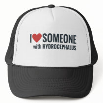 I Red Heart Someone With Hydrocephalus Trucker Hat
