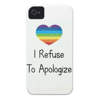 I Refuse to Apologize Case-Mate iPhone 4 Case