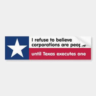 I refuse to believe... bumper sticker
