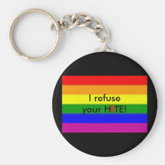 I refuseyour H8TE! Keychain