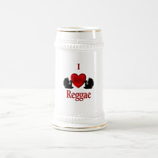 I reggae del corazón taza de café