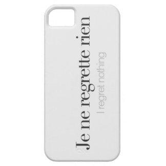 I regret nothing. iPhone SE/5/5s case