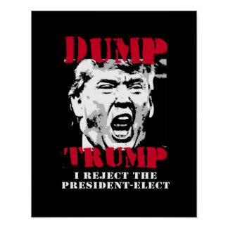 I reject the President-Elect - Dump Trump -- Anti- Poster