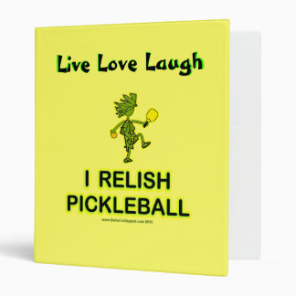 I Relish Pickleball Shirts & Gifts Binder