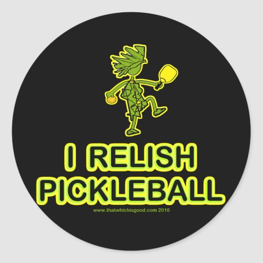 I Relish Pickleball Shirts & Gifts Classic Round Sticker