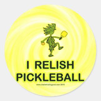 I Relish Pickleball Shirts & Gifts Classic Round Sticker