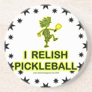 I Relish Pickleball Shirts & Gifts Coaster