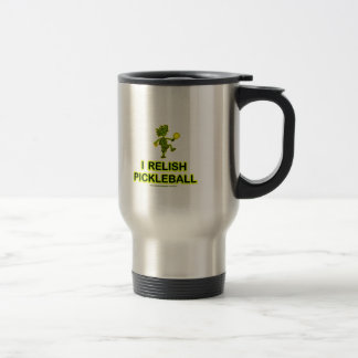 I Relish Pickleball Shirts & Gifts 15 Oz Stainless Steel Travel Mug