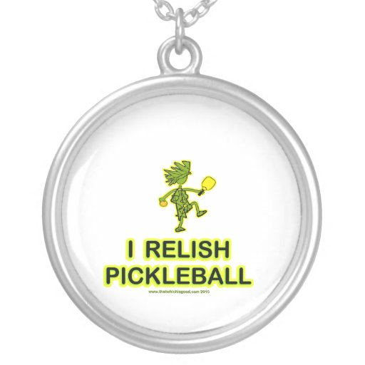 I Relish Pickleball Shirts & Gifts Round Pendant Necklace