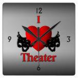 I reloj de pared del teatro del corazón