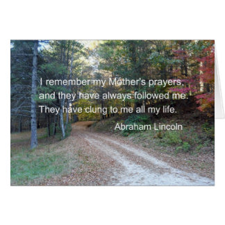 I remember my Mother's prayers... Card