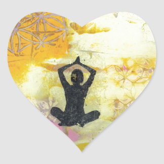 I Remember To Meditate Heart Sticker