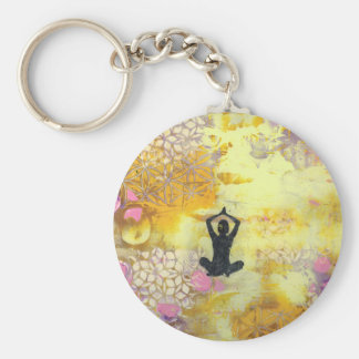 I Remember To Meditate Keychain