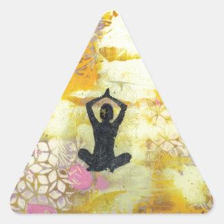 I Remember To Meditate Triangle Sticker