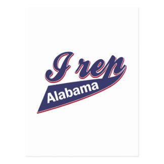 I Rep Alabama Postcard