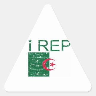 I rep Algeria Triangle Sticker
