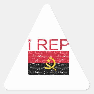 I rep Angola Triangle Sticker