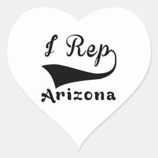 I Rep Arizona Heart Sticker