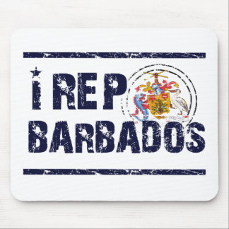 I rep Barbadose Mouse Pad