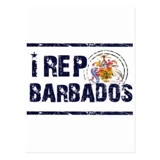 I rep Barbadose Postcard