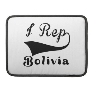 I Rep Bolivia Sleeves For MacBook Pro