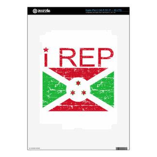 I rep Burundi iPad 3 Decal