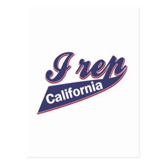 I Rep California Postcard