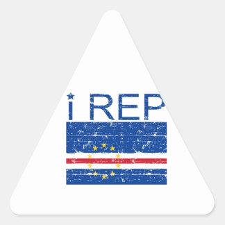 I rep Cape Verde Triangle Sticker