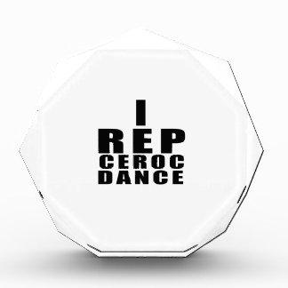 I REP CEROC DANCE DESIGNS ACRYLIC AWARD