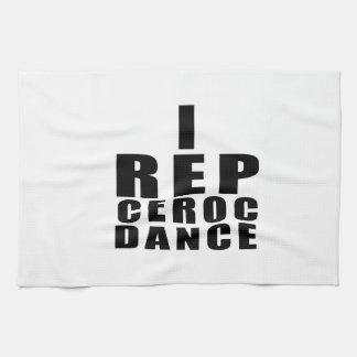 I REP CEROC DANCE DESIGNS TOWEL