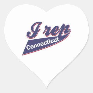 I Rep Connecticut Heart Sticker