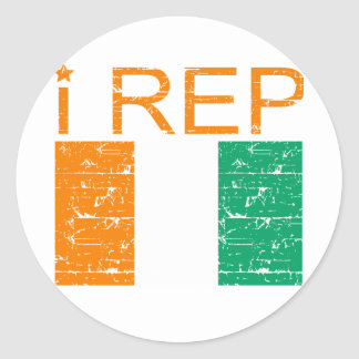 I rep Cote D' Ivoire Classic Round Sticker