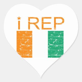 I rep Cote D' Ivoire Heart Sticker