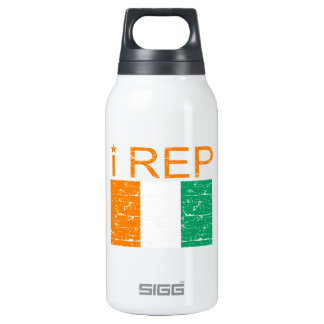 I rep Cote D' Ivoire Insulated Water Bottle