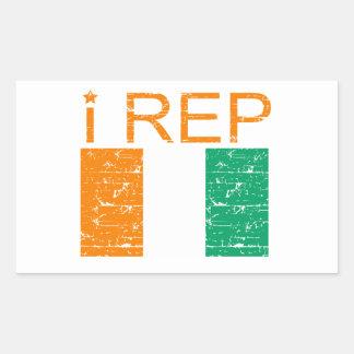 I rep Cote D' Ivoire Rectangular Sticker