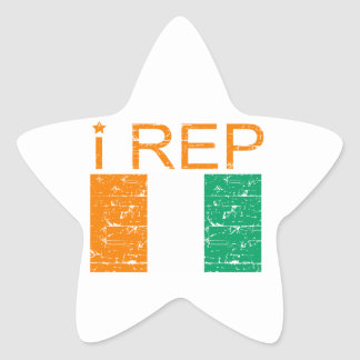 I rep Cote D' Ivoire Star Sticker