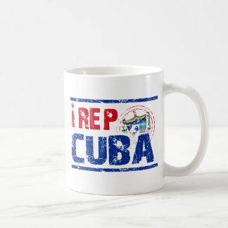 I rep cuba classic white coffee mug