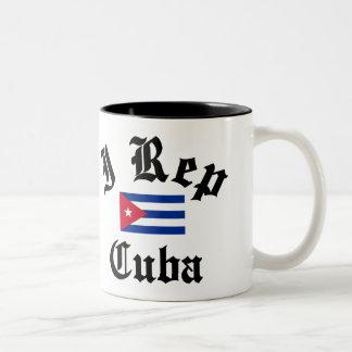 I rep Cuba Two-Tone Coffee Mug