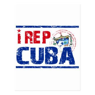 I rep cuba postcard
