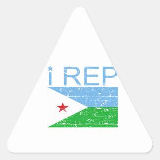 I Rep Djibouti Triangle Sticker