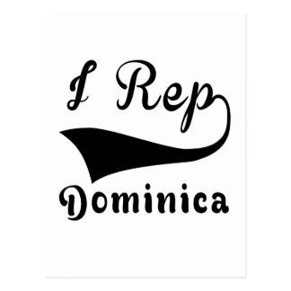 I Rep Dominica Postcard
