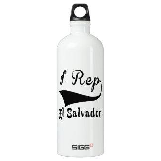 I Rep El Salvador Aluminum Water Bottle