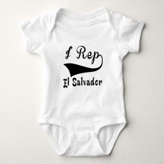 I Rep El Salvador Baby Bodysuit