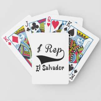 I Rep El Salvador Bicycle Playing Cards