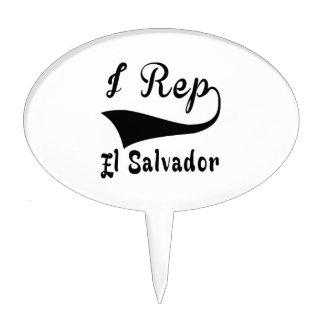 I Rep El Salvador Cake Topper