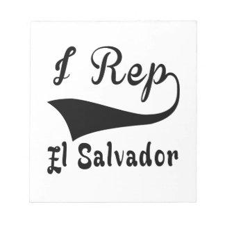 I Rep El Salvador Notepad