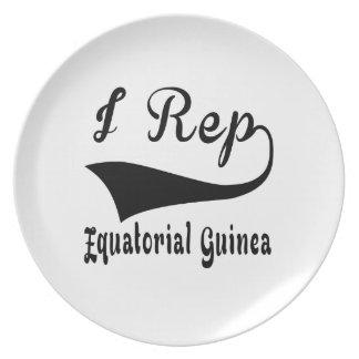 I Rep Equatorial Guinea Melamine Plate