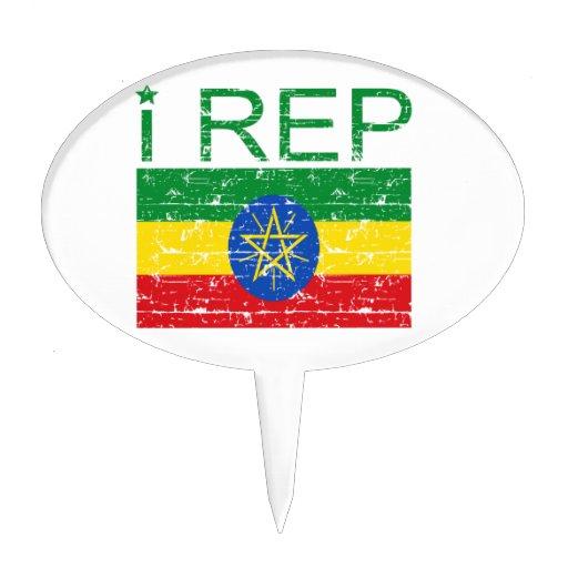 I rep Ethiopia Cake Toppers