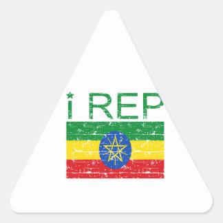 I rep Ethiopia Triangle Sticker