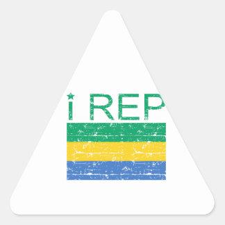 I Rep Gabon Triangle Sticker